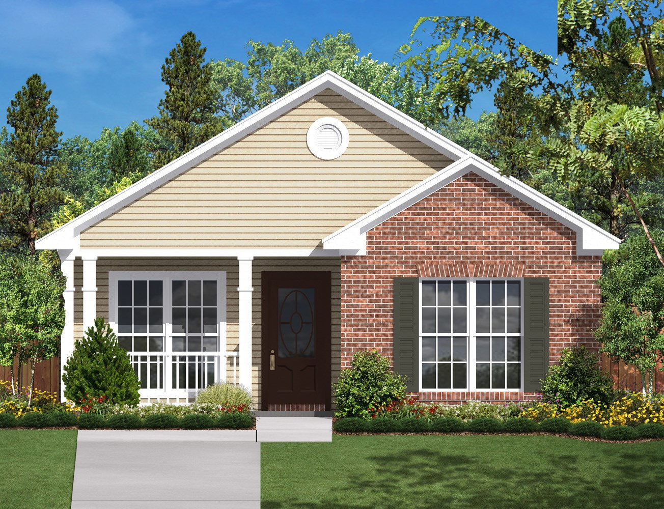 Ridgeline House Plan Traditional House Plans Ranch House Plans Small House Plans