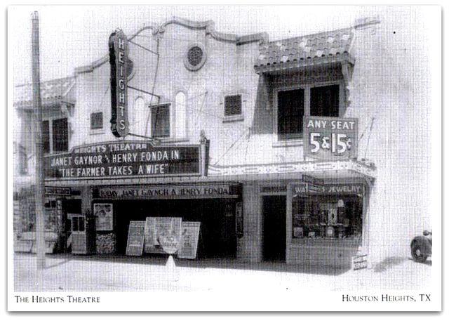 Heights Movie Theatre Houston Tx Circa 1960 S Historic Houston
