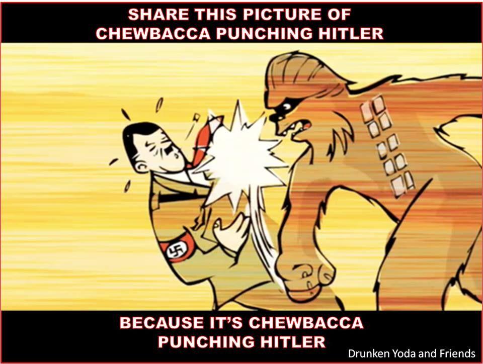Chewbacca Punching Hitler. You're Welcome.