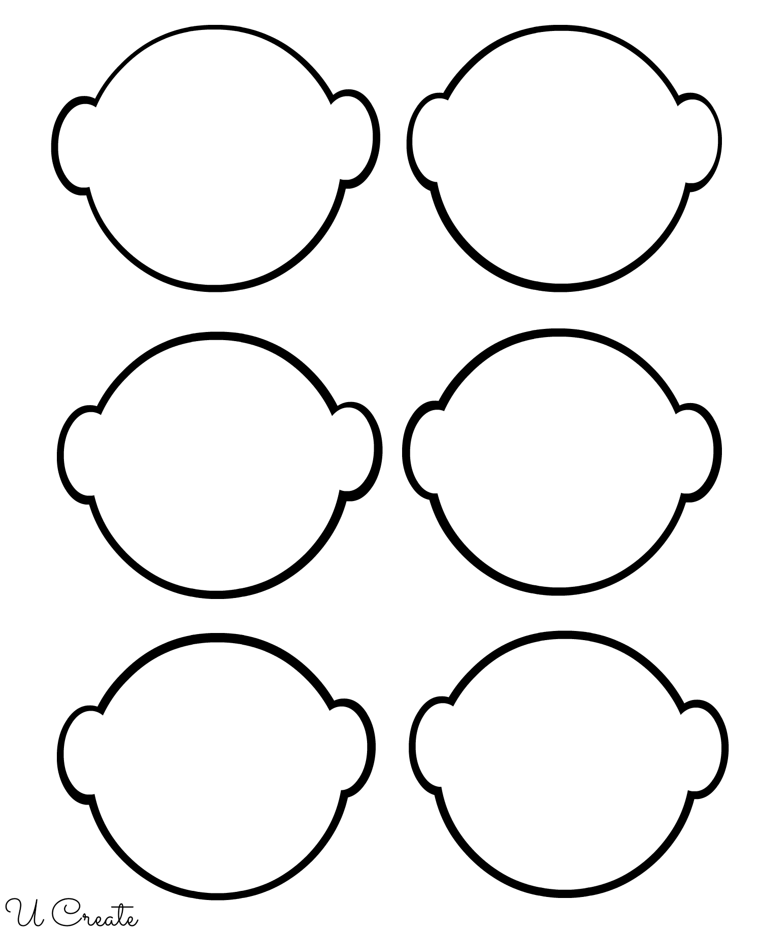 Blank Faces For Children To Color Their Family Members On