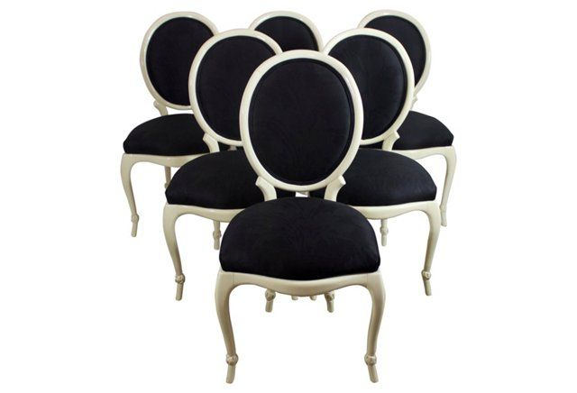 Dining Chairs Attri. to Baker, S/6