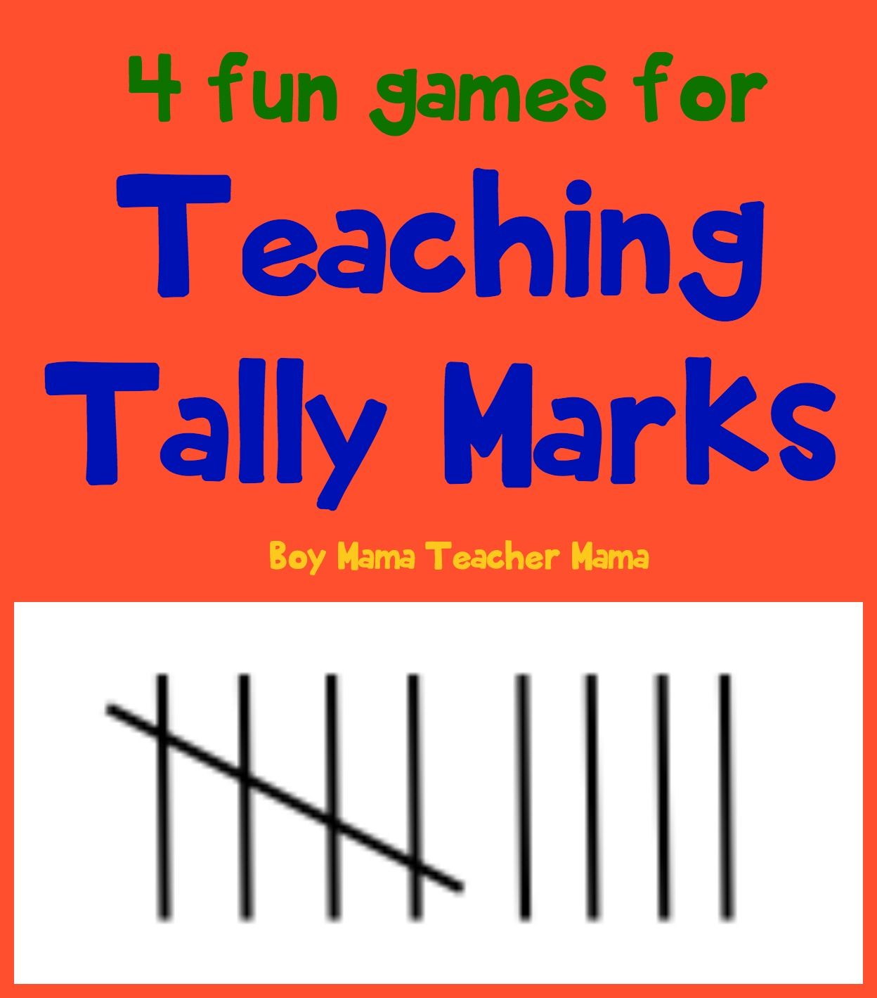 4 Fun Games for Teaching Tally Marks Tally marks are fun to teach – Tally Mark Worksheets for Kindergarten
