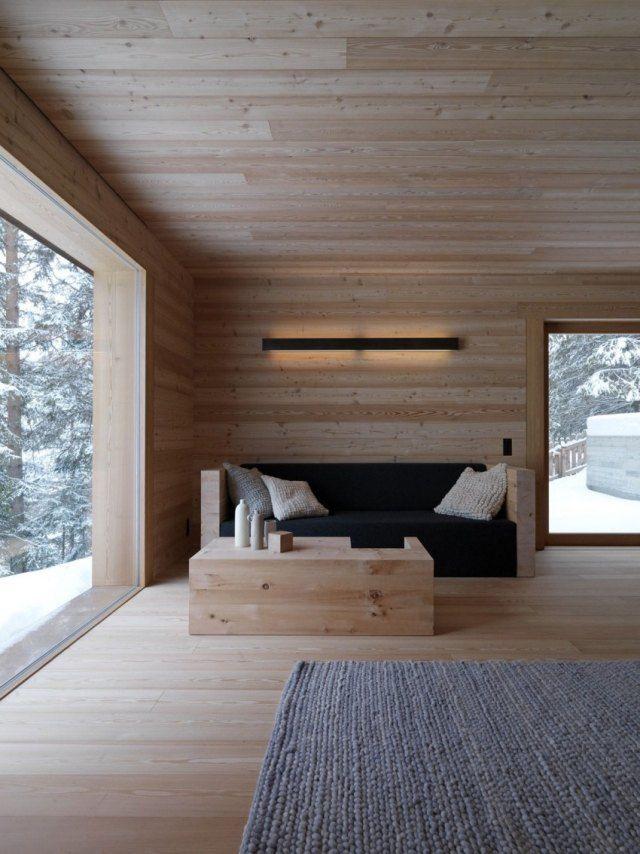 Hütte Wald Helles Holz Wandverkleidung Bodenbelag Fenster ·  DielenbodenHerrenzimmerModerne EinrichtungZimmer ...