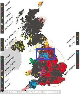 Dna Of West Yorkshire Light Blue England Cumbria Lancashire