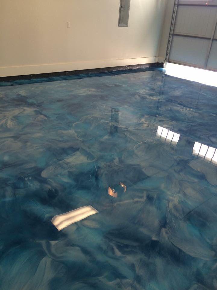 Reflector epoxy floor