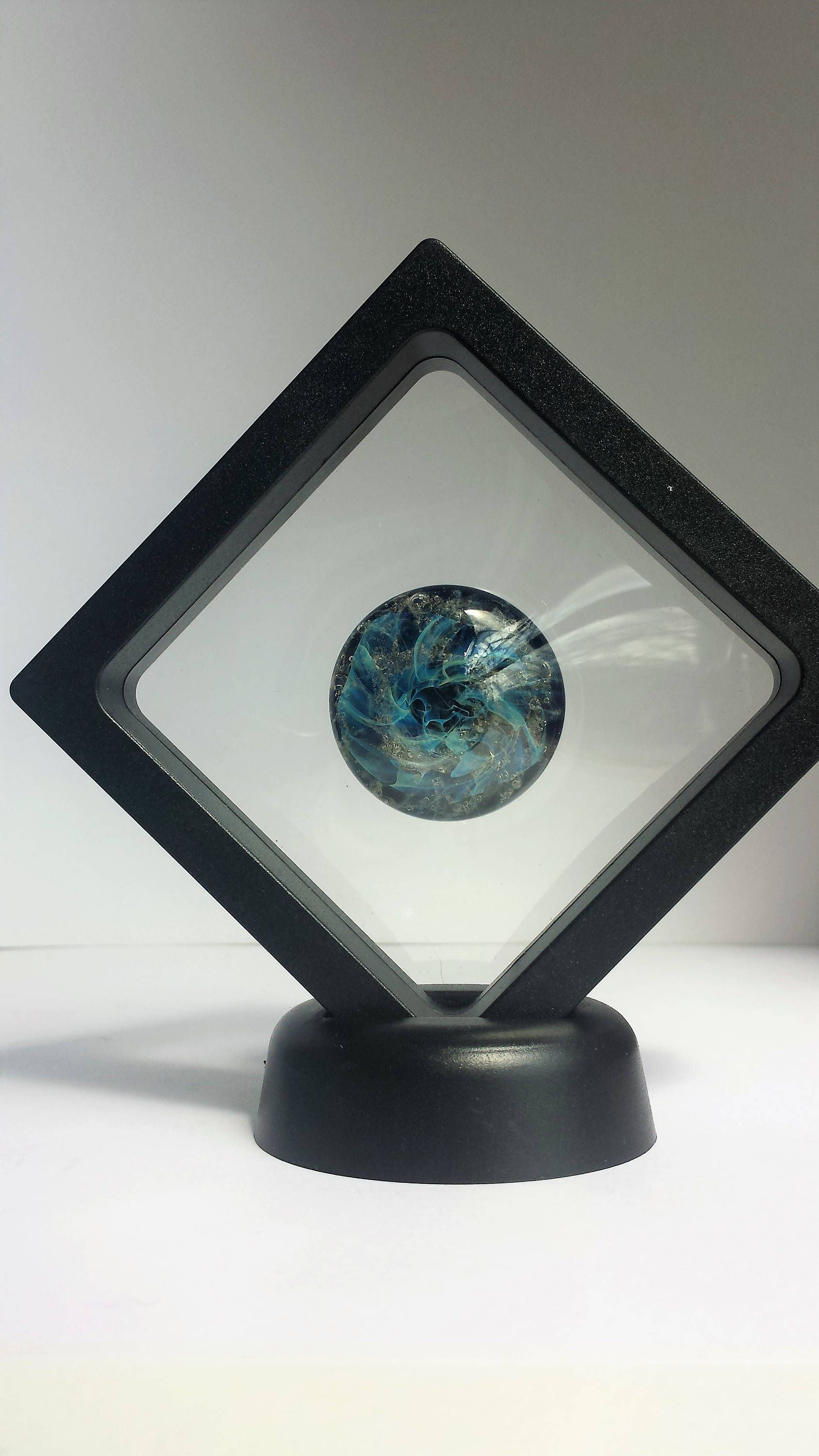 Photo of Cremation Stones for Ashes. Blown Glass Memory stone. StarDust Touchstone. Ash to Glass. Pet Urn Memorial Stones Jewelry. Cremate Jewelry
