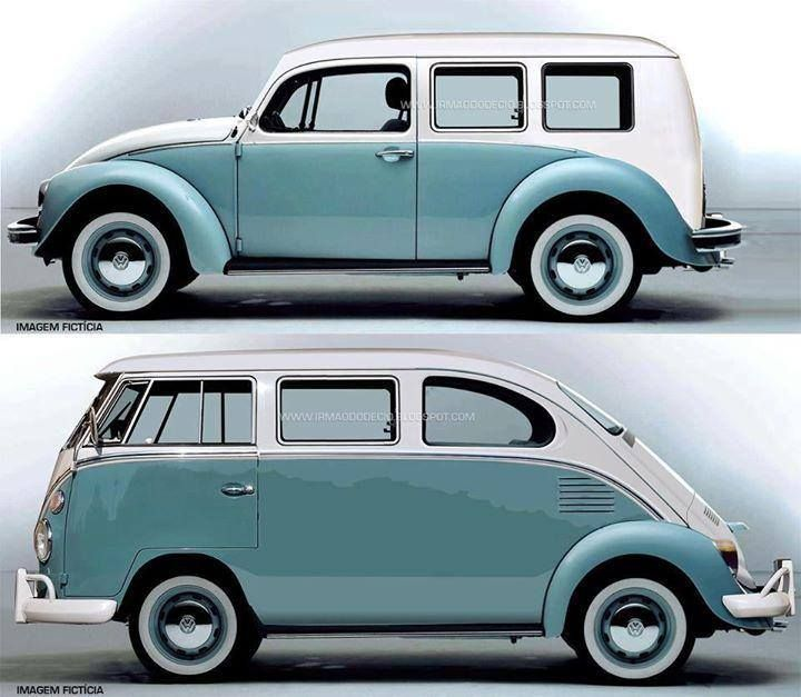 Interesting Concepts For Hybrid Vintage Vw Split Screen Bus And Beetle