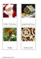 Cards for teaching about different aspects of Christmas.  Free Montessori cards for teaching about christmas.