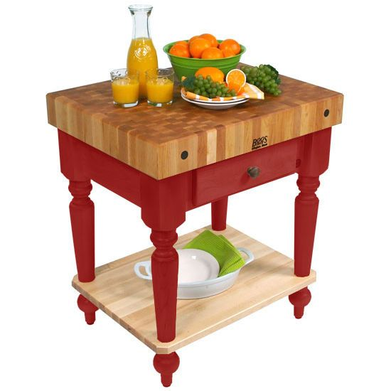 30 W Cucina Rustica Kitchen Cart With Shelf By John Boos