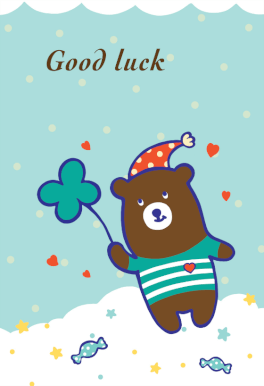 Good Luck Teddy Bear Good Luck Card Free Greetings Island Good Luck Cards Best Wishes Card Goodbye And Good Luck