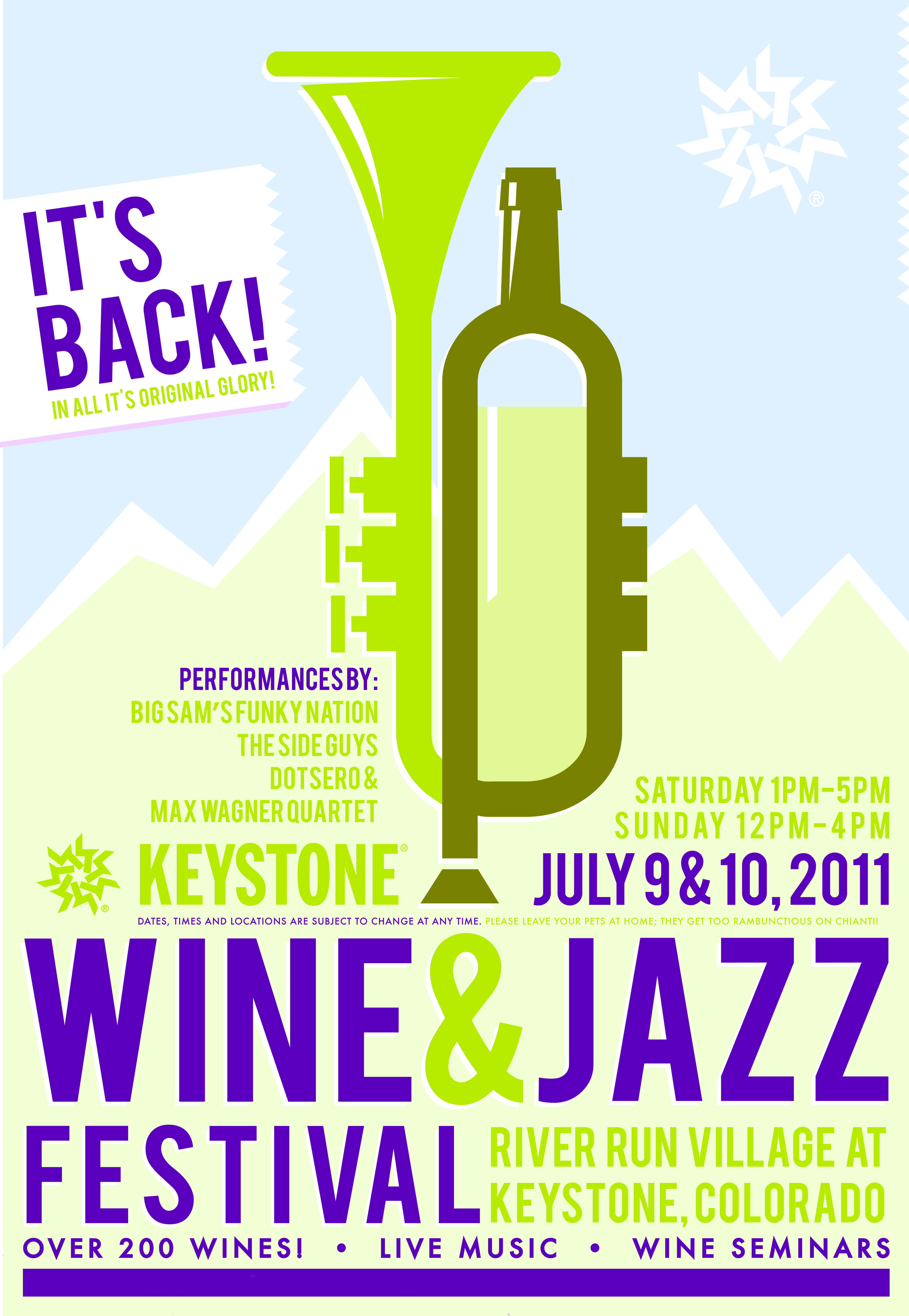 Wine Jazz Festival Is Back This Weekend Keystone Vacation Rentals By Summitcove Property Management Tematica