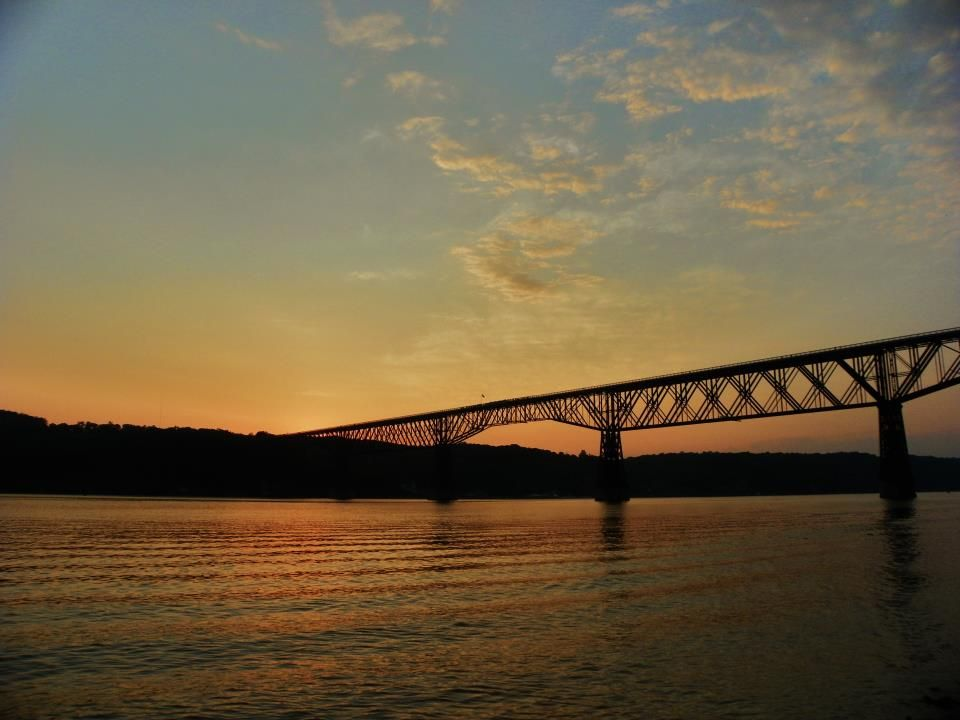 Sunset over the Walkway over the Hudson  Poughkeepsie NY
