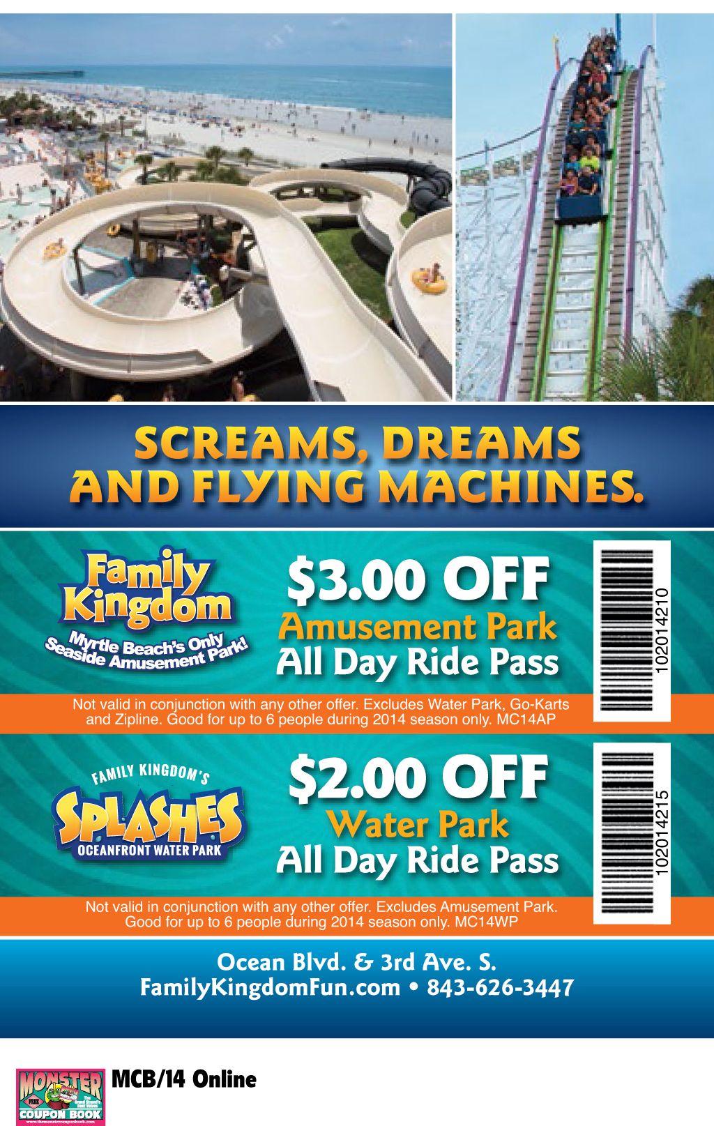 Family Kingdom S Splashes Water Park Myrtle Beach Resorts