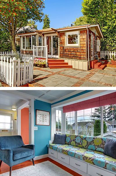 Seattle, WA, USA. Ballard Cottage is a well-equipped Tiny Home in an ideal urban location