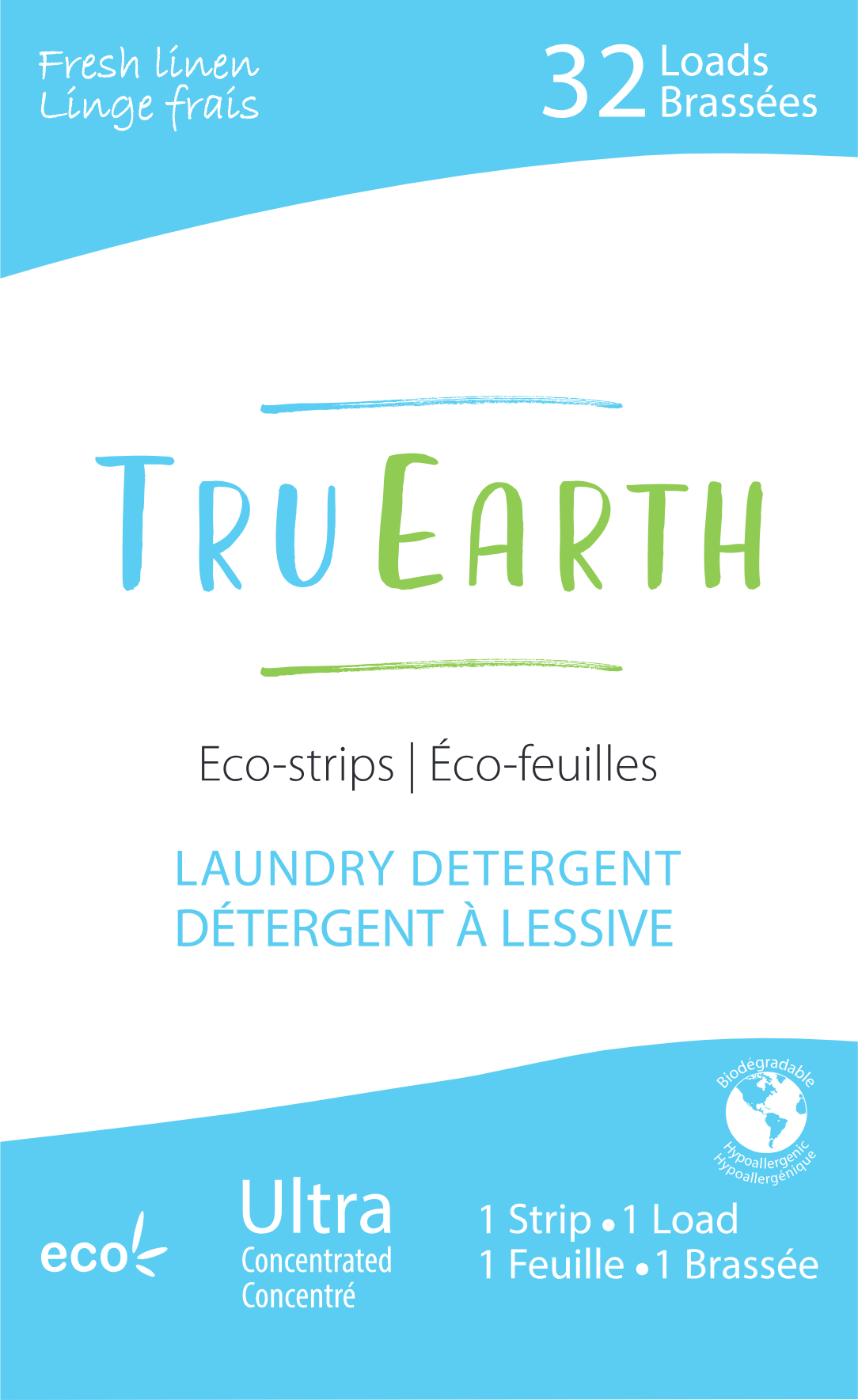 Eco Strips Laundry Detergent Fresh Linen 32 Loads With Images
