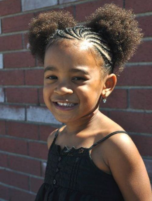Terrific Pretty Braided Hairstyles For Kids With Natural Hair Hairstyle Short Hairstyles For Black Women Fulllsitofus