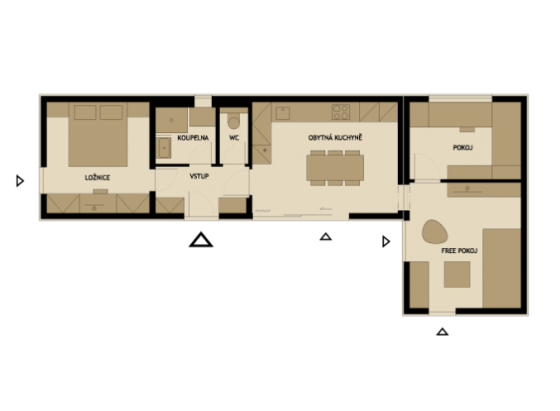 3 modelos de planos de casas peque as de madera modernas for Viviendas minimalistas pequenas