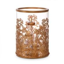 Golden Frond Hurricane Candle Decor Partylite Party Lite Candles