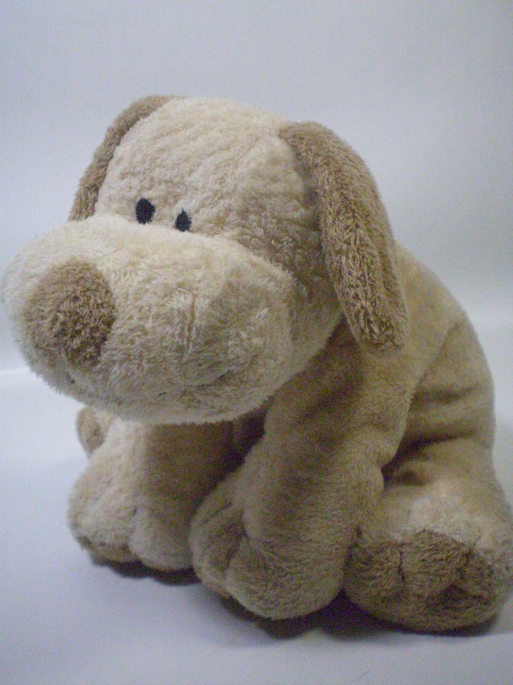 2002 Ty Pluffy Brown Floppy Puppy Dog Pluffies Beanie Plopper