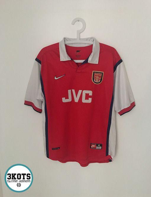701d40c9a ARSENAL FC 1998 99 Home Football Shirt (M) Soccer Jersey Vintage NIKE  gunners  Nike  Jerseys  Arsenal  FootballShirts