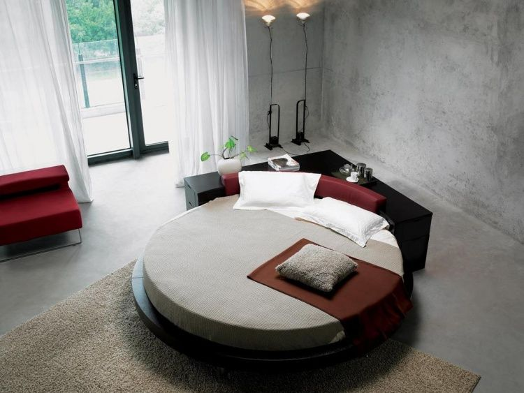 Modern style bedroom design a incredible big round bed Love