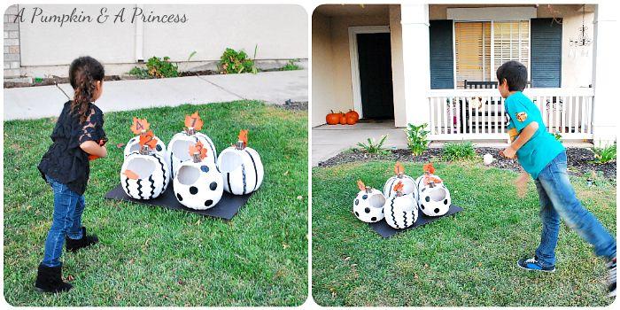 Pumpkin toss game tossed diy halloween games and home made halloween pumpkin bean bag toss game diy solutioingenieria Choice Image