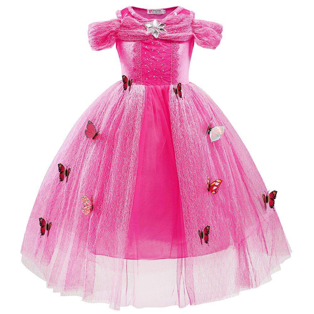 Girl Princess Dress Baby Christmas dress, Pink Baby Dress Girl Party Dress Baby Girl Dress Girl Lace Dress Baby Ruffle dress
