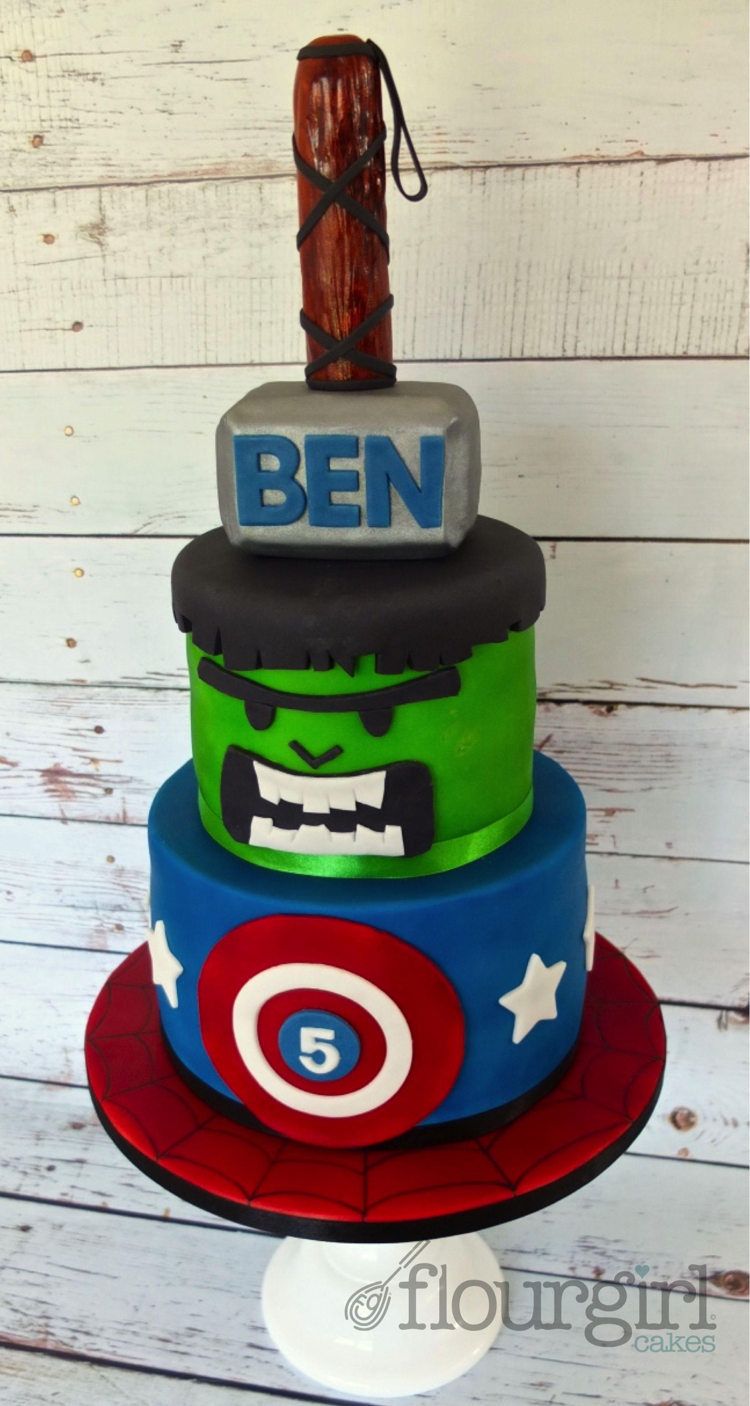 Superhero Birthday Cake Marvel Birthday Cake Thor Cake Hulk Cake