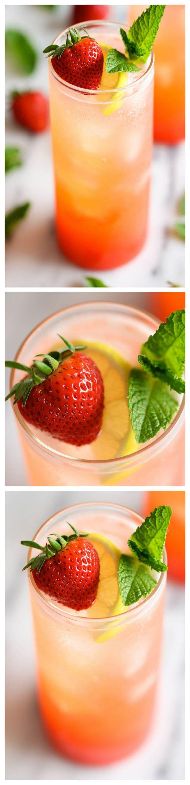 Sparkling Strawberry Lemonade - Damn Delicious