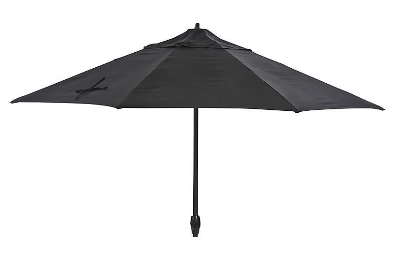 Veda Patio Umbrella Black Sunbrella California