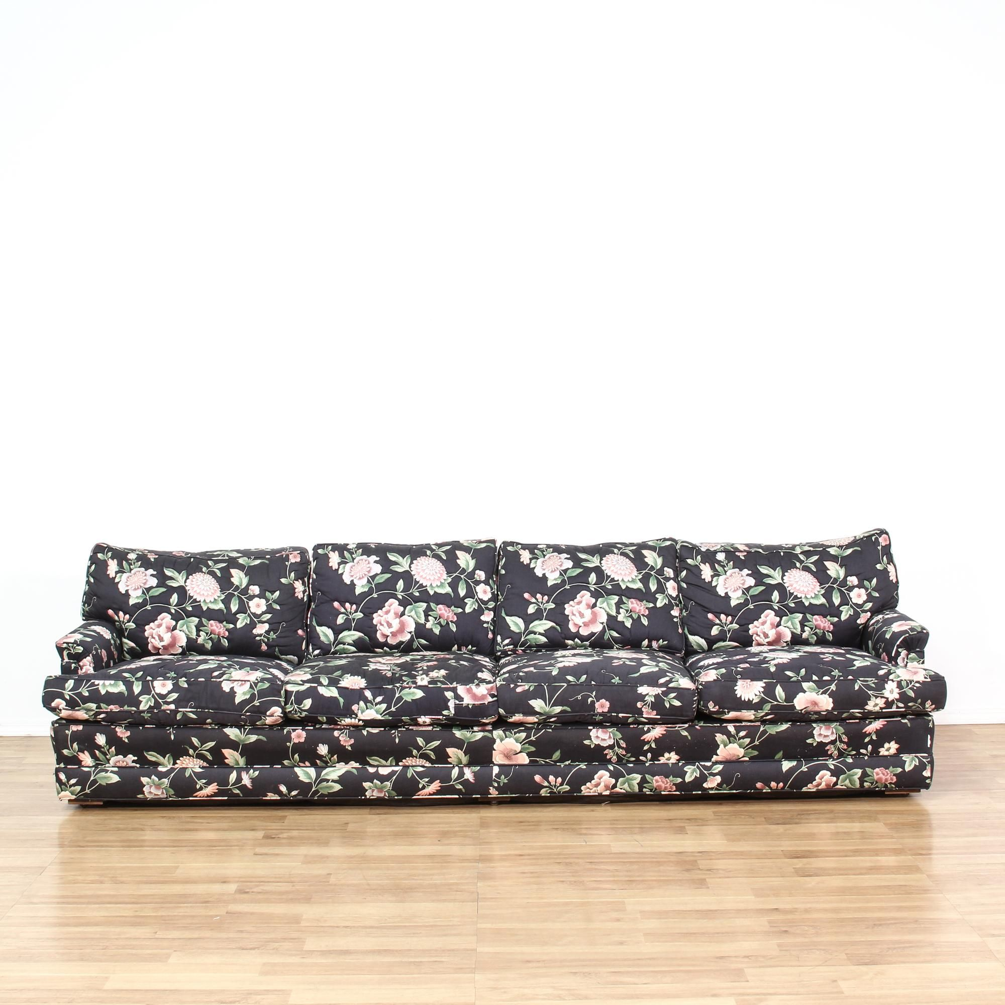This Sofa Is Upholstered In A Gorgeous Navy Blue All Over