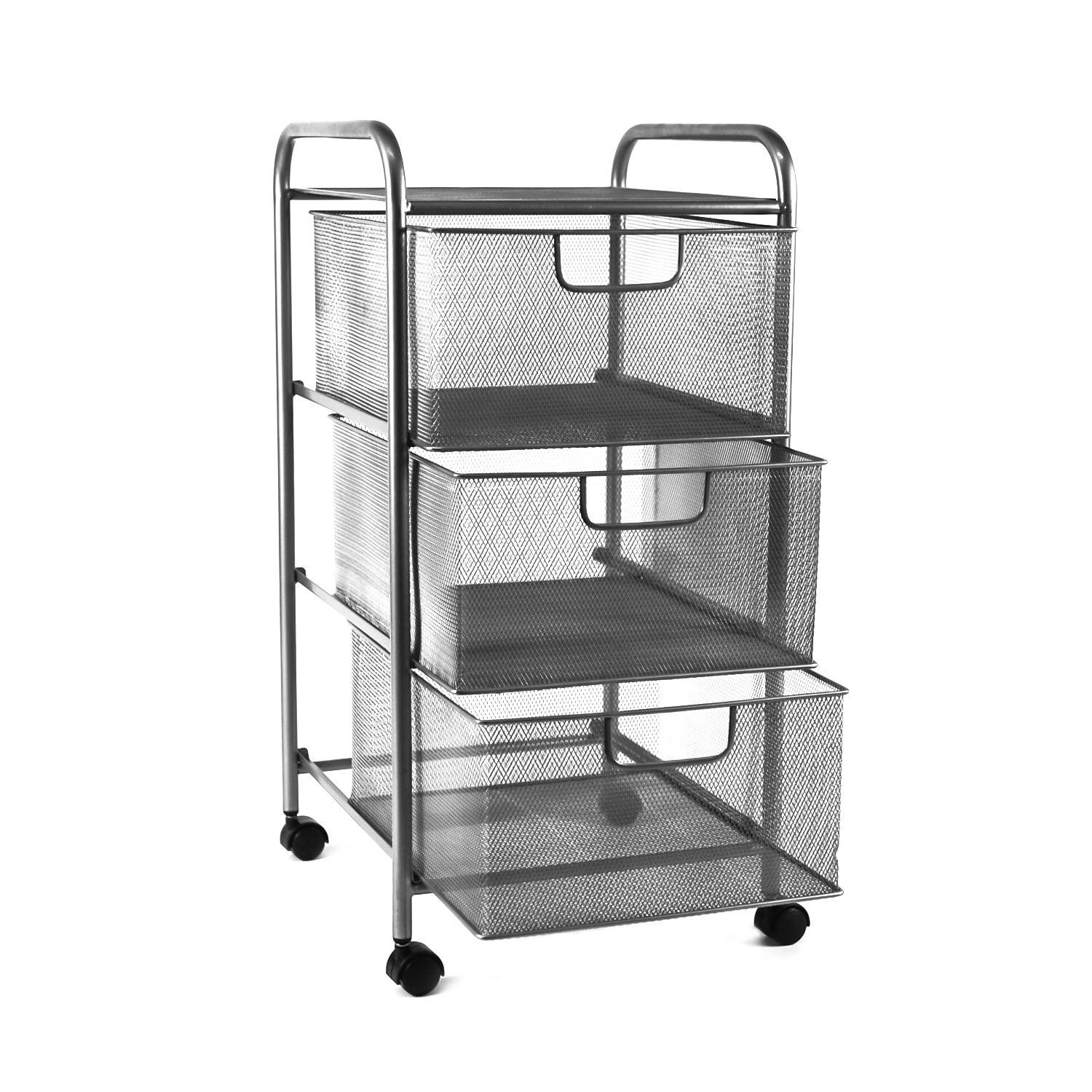 YIMU Mesh File Storage Cart with 3 Drawers 3 Tier Letter Size Metal Office Supply  sc 1 st  Pinterest & YIMU Mesh File Storage Cart with 3 Drawers 3 Tier Letter Size Metal ...
