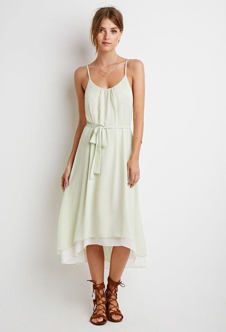 Dresses to wear to a beach wedding as a guest  Contemporary TexturedChiffon Belted Dress  Fashion  Pinterest
