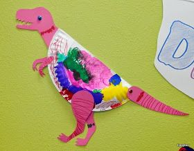 Photo of Paper Plate Dinosaurs