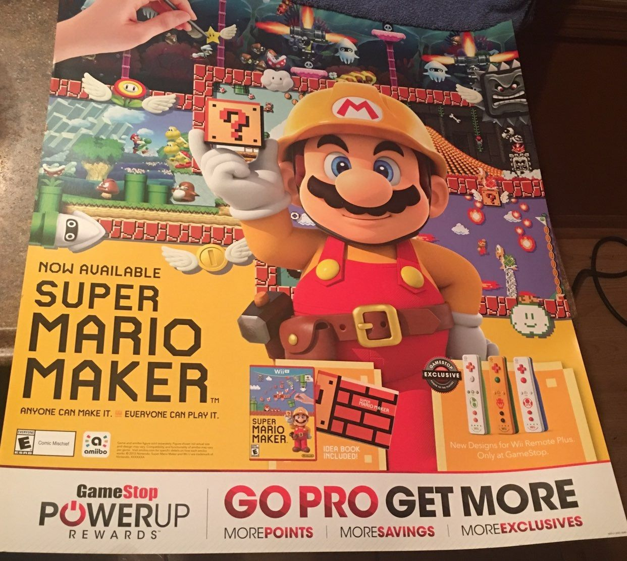 SUPER MARIO MAKER HeavyDuty Card Stock Poster