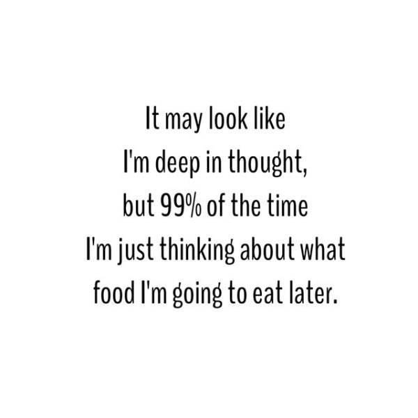 Just thinking of food