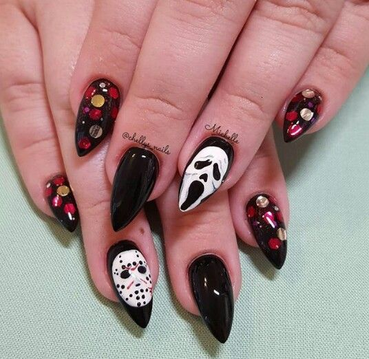 50+ Cool Halloween Nail Art Designs for 2018 | Nail art ...