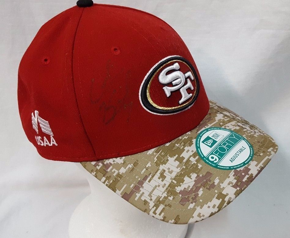 info for 27cfe 436e7 San Francisco 49ers New Era Camo Salute to Service Signed by Colin  Kapernick  NewEra  SanFrancisco49ers