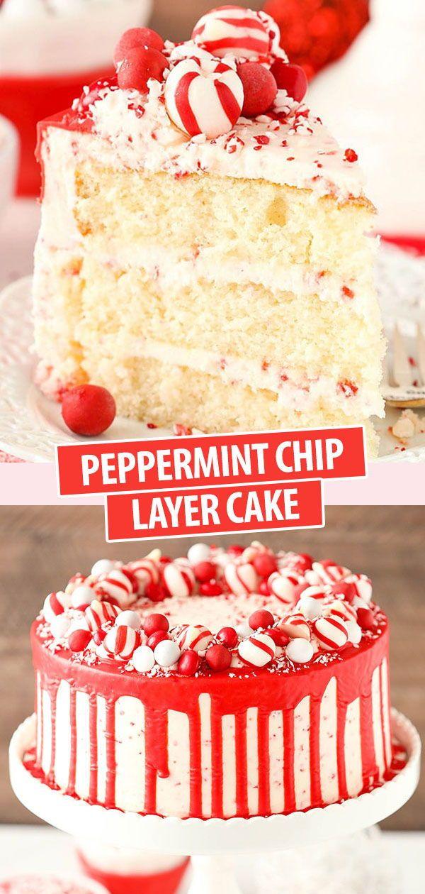Pfefferminz-Chip-Torte
