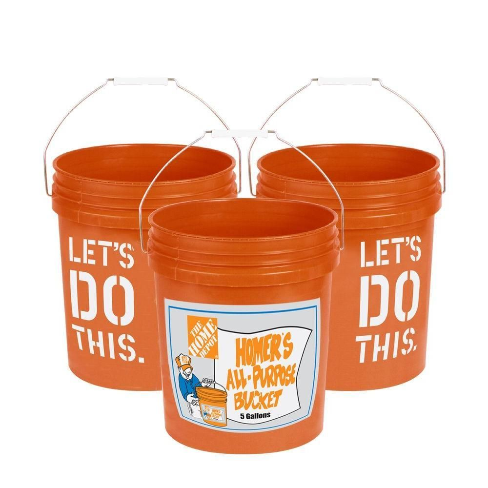 We Might Be Partial But This Bucket Makes For Great Container For Hard To Wrap Hand Tools On Christmas Home Depot Paint Storage Buckets Bucket