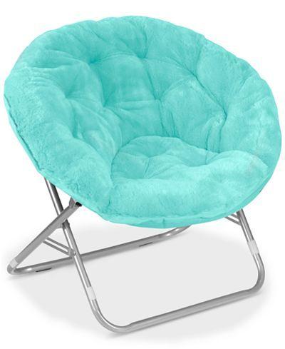 99 macy s arron adult faux fur saucer chair direct ship rh pinterest com