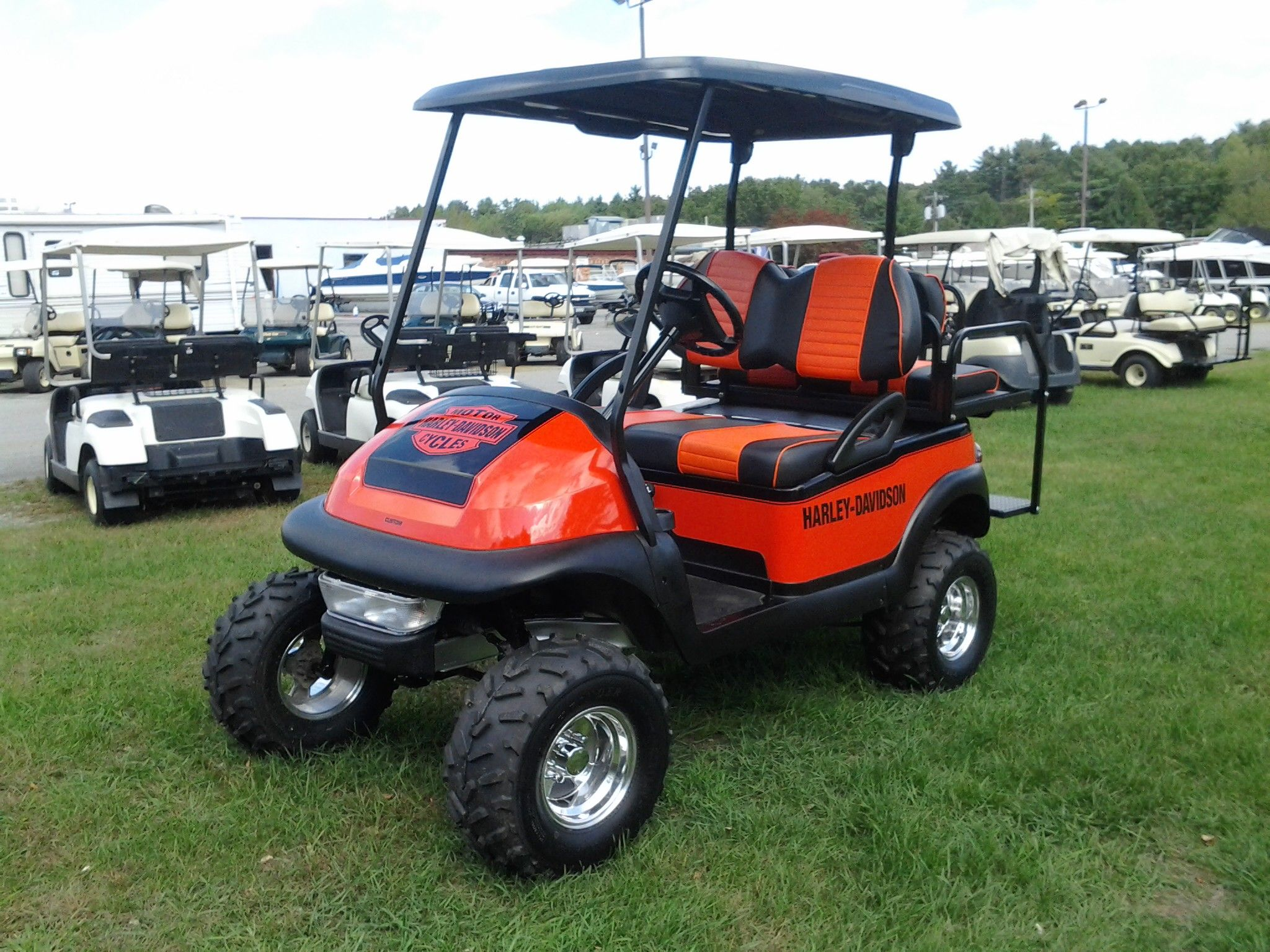 Harley Davidson Club Car golf cart | SWAG | Golf carts, Golf