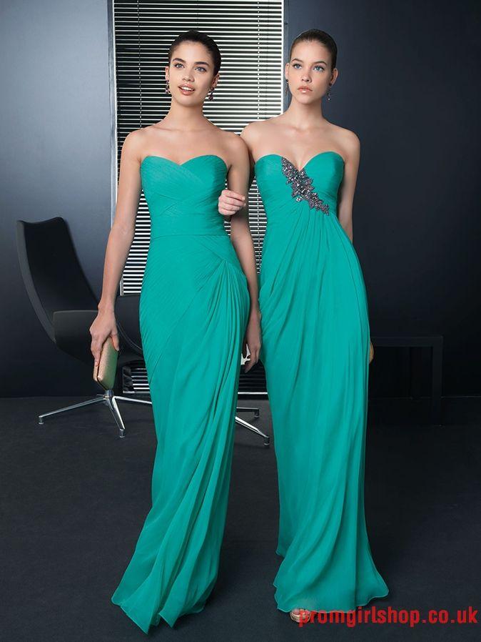 Strapless sweetheart long hunter Celebrity Dresses | vestidos ...