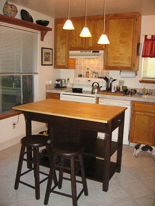 Kücheninsel Mit Sitzplätzen Bar Höhe Arbeitsplatte Schmall Holz