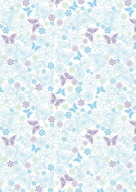 Blue and lilac butterflies scrapbook paper decorative for Lilac butterfly wallpaper