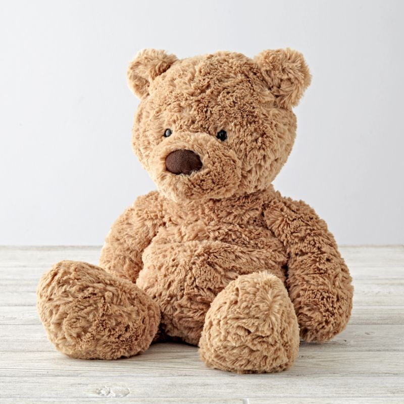 Jellycat Medium Brown Bear Stuffed Animal + Reviews | Crate and Barrel