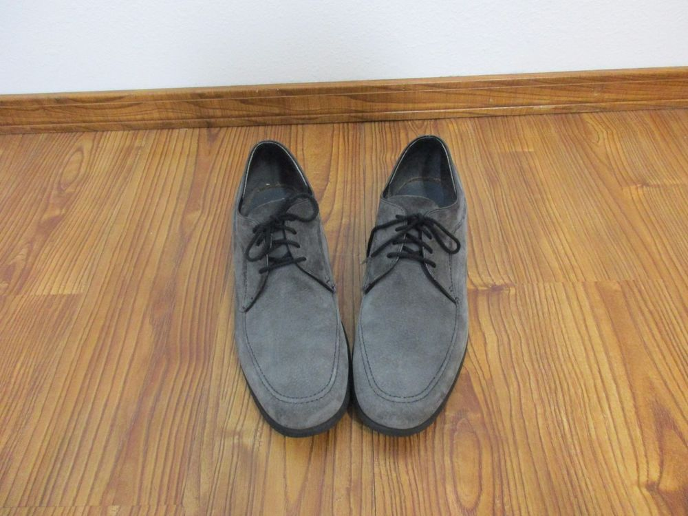 Vintage Hush Puppies Rockabilly Oxford Lace Up Shoes Mens 11 5 Gray Suede Hushpuppies Casualshoes Dress Shoes Men Boat Shoes Mens Shoes Mens