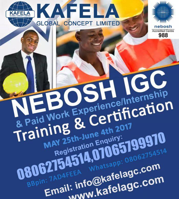 Kafela GC Holds NEBOSH IGC Training in Lagos Who Should