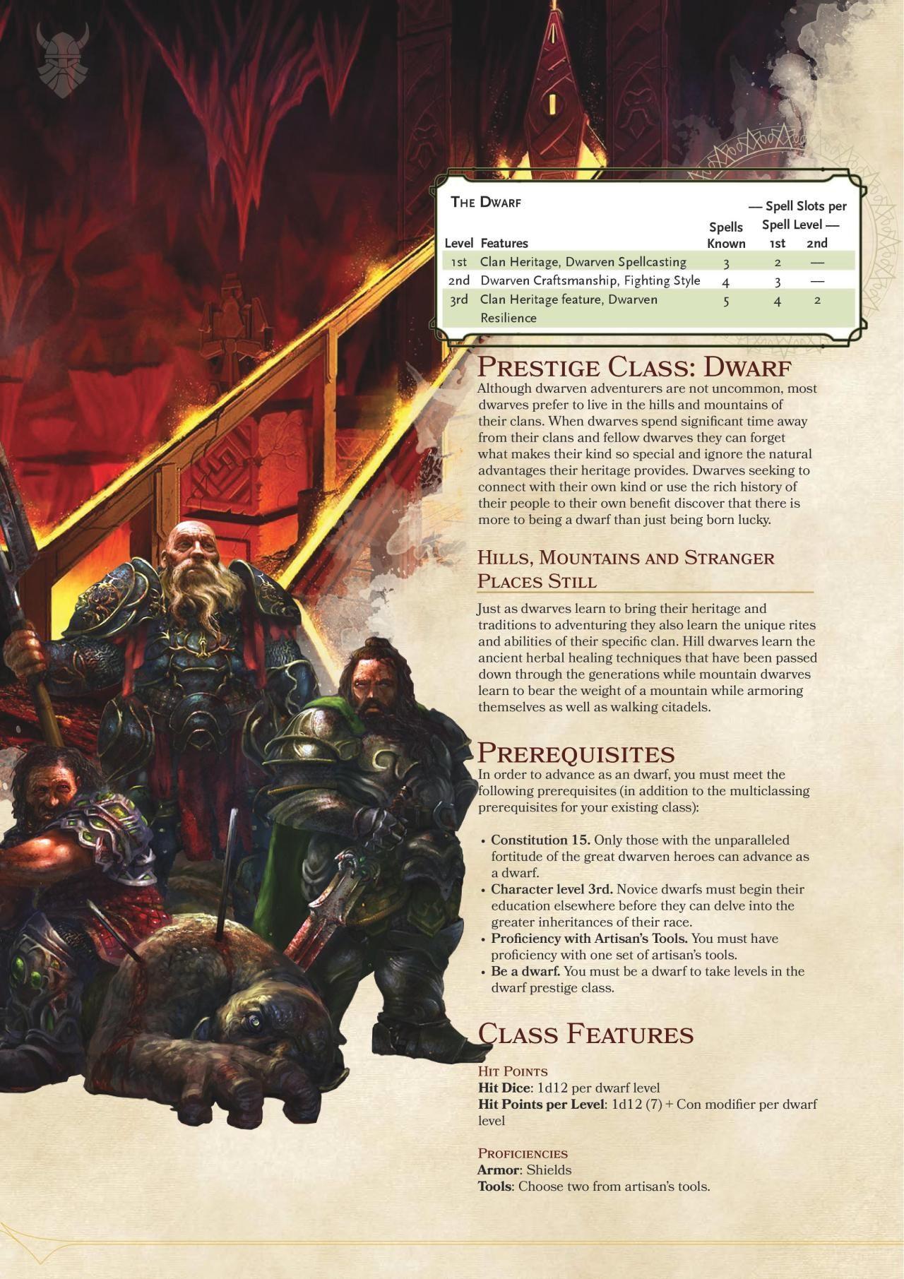 DnD 5e Homebrew — Dwarf Prestige Class by Coolgamertagbro