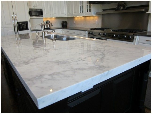 Best Ekbacken Countertop White Marble Effect Acasă 400 x 300